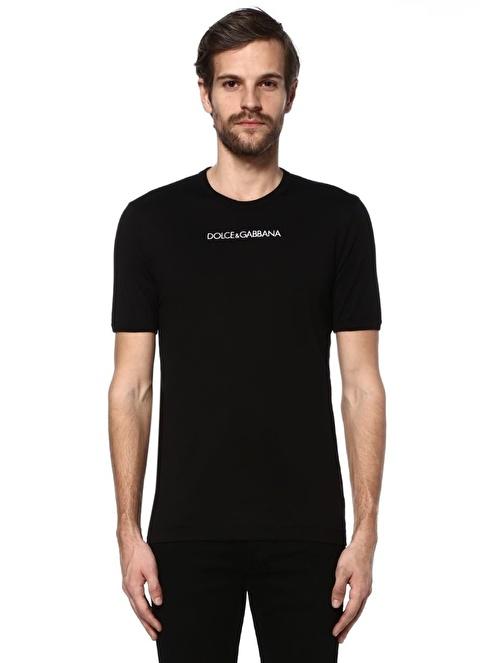 Dolce&Gabbana Bisiklet Yaka Tişört Siyah